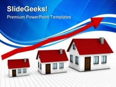 Growing Housing Market Real Estate PowerPoint Themes And PowerPoint Slides 0411