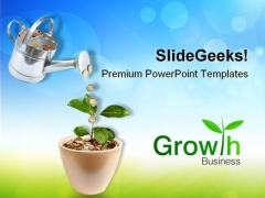 Growing Money Plant Finance PowerPoint Themes And PowerPoint Slides 0711