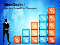 Growing Percent Success PowerPoint Templates And PowerPoint Themes 0612
