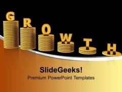 Growing Stack Of Coins PowerPoint Templates Ppt Backgrounds For Slides 0113