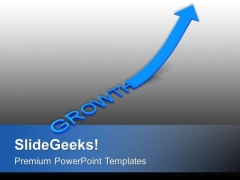 Growth Arrow Pointing Up Business Concept PowerPoint Templates Ppt Backgrounds For Slides 0213