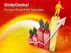 Growth Arrow Success PowerPoint Templates And PowerPoint Backgrounds 0911