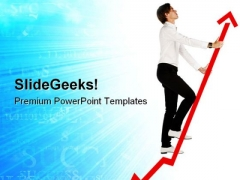 Growth Arrow Success PowerPoint Themes And PowerPoint Slides 0811