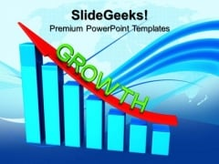 Growth Bar Graph Business PowerPoint Templates And PowerPoint Themes 1012