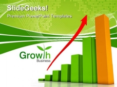 Growth Chart Business PowerPoint Themes And PowerPoint Slides 0411