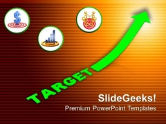 Growth Factors With Business Target PowerPoint Templates Ppt Backgrounds For Slides 0313