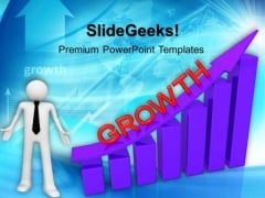 Growth Graph Moving Up PowerPoint Templates And PowerPoint Themes 1012