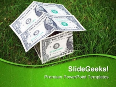 Growth In Housing Markets Money PowerPoint Themes And PowerPoint Slides 0511