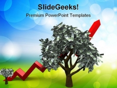 Growth Of A Money Tree Finance PowerPoint Themes And PowerPoint Slides 0211