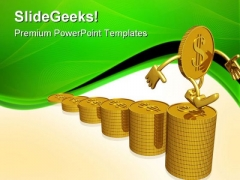 Growth Of Dollar Finance PowerPoint Themes And PowerPoint Slides 0411