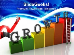 Growth Stairs Success PowerPoint Templates And PowerPoint Themes 0612