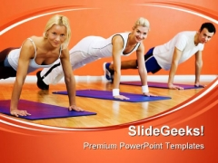 Gym Exercises Health PowerPoint Templates And PowerPoint Backgrounds 0411