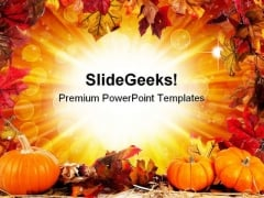 Halloween Border Nature PowerPoint Template 1010