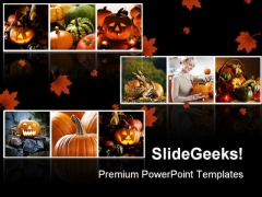 Halloween Collage Festival PowerPoint Templates And PowerPoint Backgrounds 0511