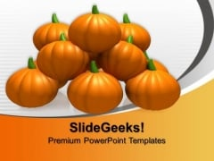 Halloween Pumpkins Nature PowerPoint Templates And PowerPoint Themes 0912