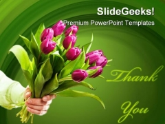 Hand Holding Flowers Beauty PowerPoint Templates And PowerPoint Backgrounds 0311