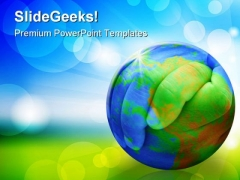 Hands Of The Planet Earth PowerPoint Templates And PowerPoint Backgrounds 0411