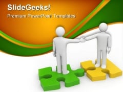 Handshake Agreement Business PowerPoint Themes And PowerPoint Slides 0511