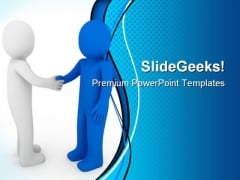 Handshake Business PowerPoint Backgrounds And Templates 0111