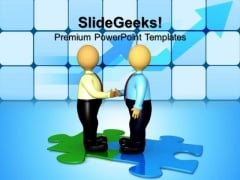 Handshake Connection Business PowerPoint Templates And PowerPoint Themes 0612
