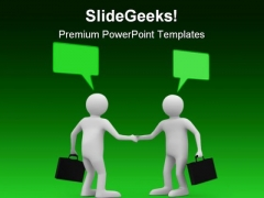 Handshake Meeting Business PowerPoint Templates And PowerPoint Backgrounds 0911