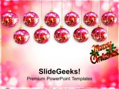 Hanging Baubles Christmas Festival PowerPoint Templates Ppt Backgrounds For Slides 1112