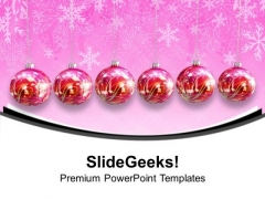 Hanging Christmas Ornaments Decorations PowerPoint Templates Ppt Backgrounds For Slides 1112