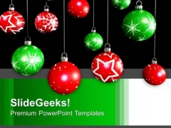 Hanging Filigree Christmas Eve Decoration PowerPoint Templates Ppt Backgrounds For Slides 1112