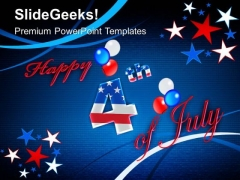 Happy 4th July Independence American PowerPoint Templates And PowerPoint Themes 0612