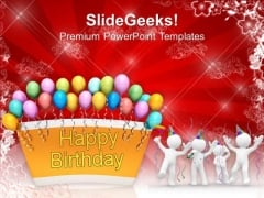 Happy Birthday Balloons Celebration Party PowerPoint Templates Ppt Backgrounds For Slides 1212