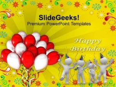 Happy Birthday Balloons Celebration PowerPoint Templates Ppt Backgrounds For Slides 1212