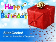 Happy Birthday Gift Background PowerPoint Templates Ppt Backgrounds For Slides 0313
