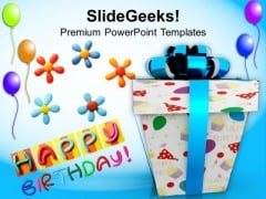 Happy Birthday Gift Balloons Events PowerPoint Templates And PowerPoint Themes 1112