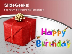 Happy Birthday Gift Celebration PowerPoint Templates Ppt Backgrounds For Slides 0313