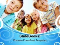 Happy Children Nature PowerPoint Templates And PowerPoint Backgrounds 0511