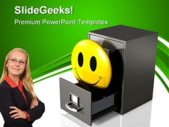 Happy Database Business PowerPoint Templates And PowerPoint Backgrounds 0711
