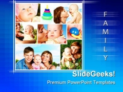 Happy Family Children PowerPoint Themes And PowerPoint Slides 0411
