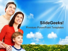Happy Family People PowerPoint Templates And PowerPoint Backgrounds 0311