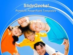 Happy Family People PowerPoint Themes And PowerPoint Slides 0911