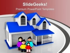 Happy Family PowerPoint Templates Ppt Backgrounds For Slides 0613