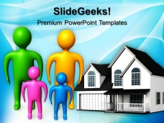 Happy Family Real Estate PowerPoint Templates And PowerPoint Themes 0712