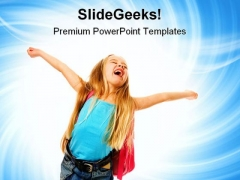 Happy Girl Education PowerPoint Themes And PowerPoint Slides 0511