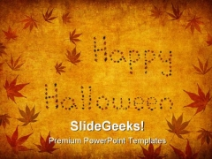 Happy Halloween Festival PowerPoint Templates And PowerPoint Backgrounds 0511