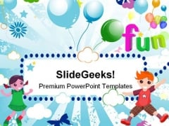 Happy Kids Background PowerPoint Templates And PowerPoint Backgrounds 0611