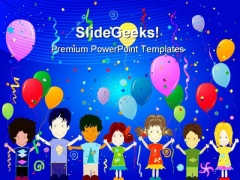 Happy Kids Entertainment PowerPoint Themes And PowerPoint Slides 0711