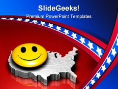 Happy Nation Americana PowerPoint Templates And PowerPoint Backgrounds 0511