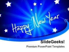 Happy New Year01 Festival PowerPoint Template 1010