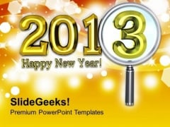 Happy New Year 2013 Sparkling Theme PowerPoint Templates Ppt Backgrounds For Slides 0413
