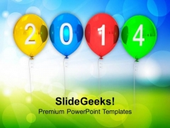 Happy New Year 2014 PowerPoint Template 1113