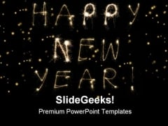 Happy New Year Abstract Background PowerPoint Templates And PowerPoint Backgrounds 0811